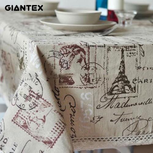GIANTEX Tower Decorative Table Cloth Tablecloth Rectangular Dining Table Cover Table Cloths Obrus Tafelkleed mantel mesa