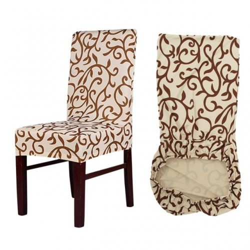 Meijuner Flower Printing Removable Chair Cover Big Elastic Slipcover Modern Kitchen Seat Case Stretch Chair Cover