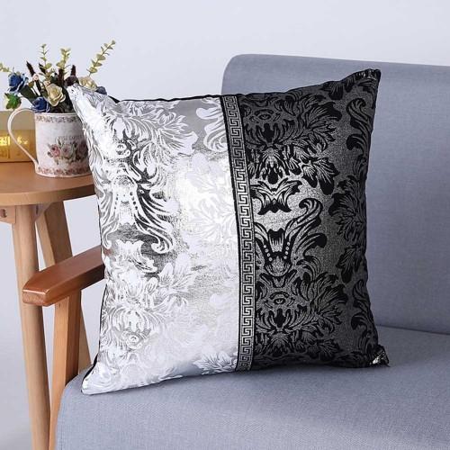Meijuner Vintage Black Silver Floral Cushion Cover Pillow Case For Car Sofa Decor Pillowcase Home Decorative