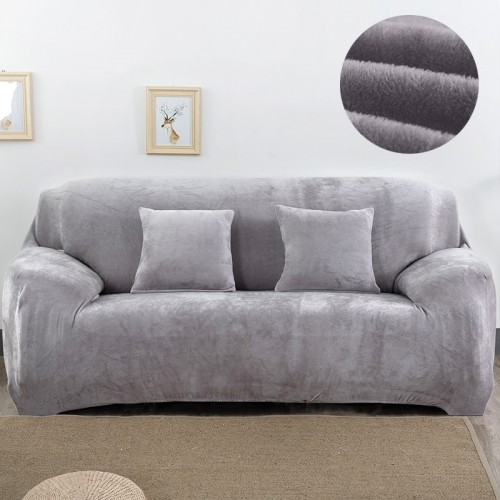 Plush fabirc Sofa cover 1 2 3 4 seater thick Slipcover couch sofacovers stretch elastic cheap