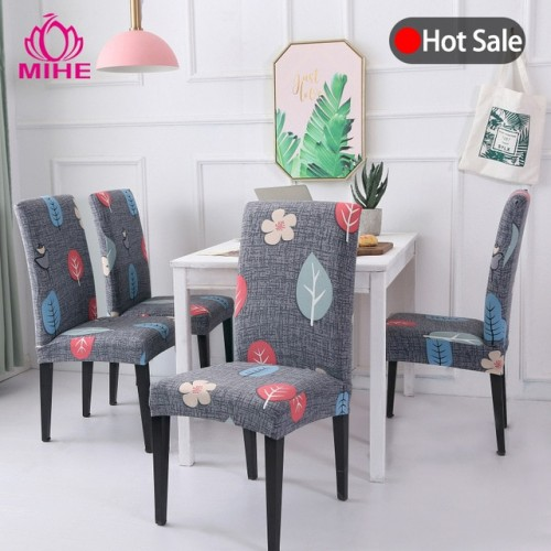 Removable Modern Chair Cover Stretch Dining Seat Cover Spandex Elastic Wedding Banquet Chair Covers Europe Pastoral