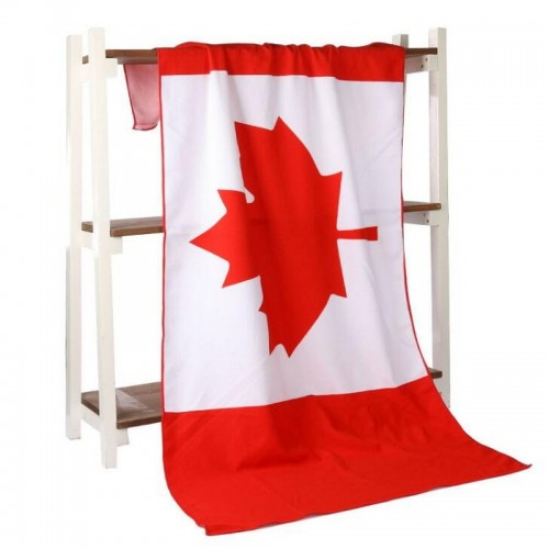 Maple Leaf Flag Canada Towel Microfiber Printing Activity Beach Towel Hair Super Soft Water