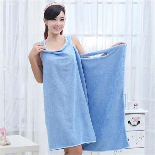 New Neck Bath Towel Microfiber Bath Beach Wearable Body Wrap Spa Towel Super Absorbent