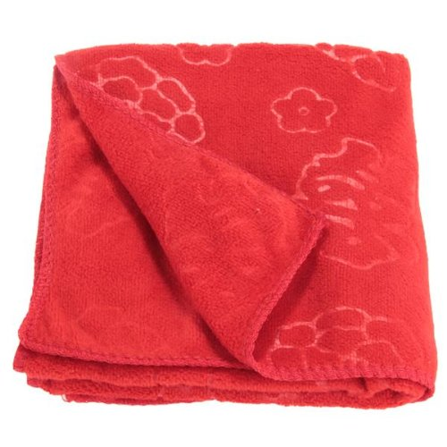 Red Chinese Style Pyrographic Cotton Bath Towel Wedding Gift