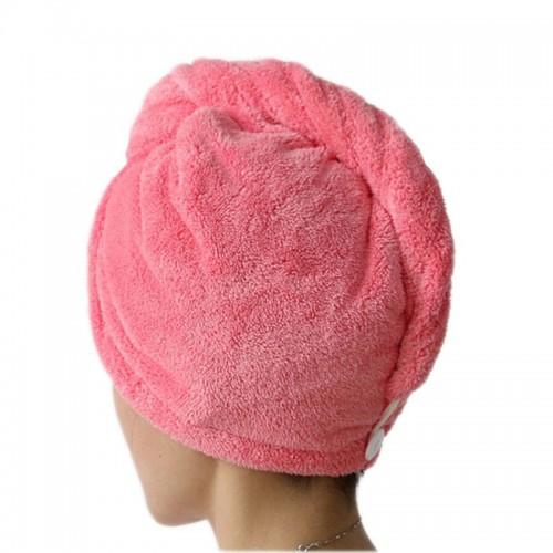 Women Bathroom Hair Towels Super Absorbent Quick drying Microfiber Bath Towel Solid Color Hair Dry Cap