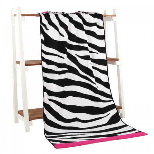 Zebra Pattern Towel Microfiber Printing Activity Beach Towel Hair Super Soft Water 70 140 Cm Soft