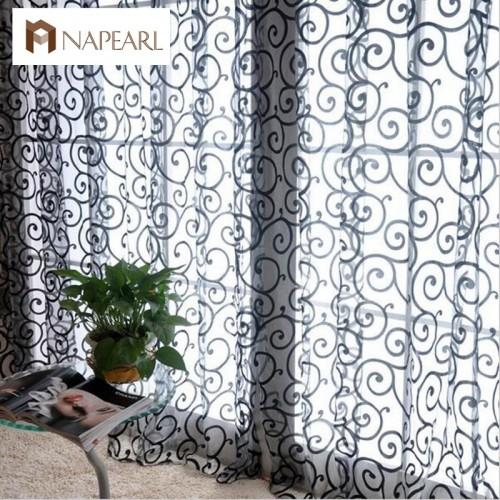 Fashion fashion curtain window screening finished product quality curtain