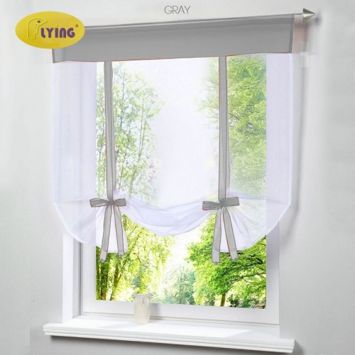 Flying Window Tulle Yarn Kitchen Bay Screen Curtains for Living Room Divider Home Transparent Sheer Curtain