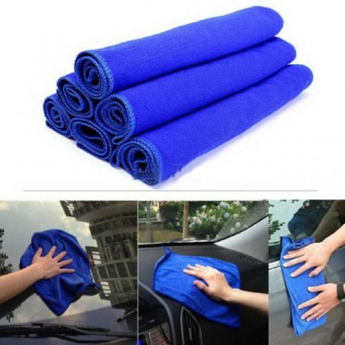 New Qualified Wholesale 30 30cm Soft Microfiber Cleaning Towel Fiber Car Auto Wash Dry Clean Polish.