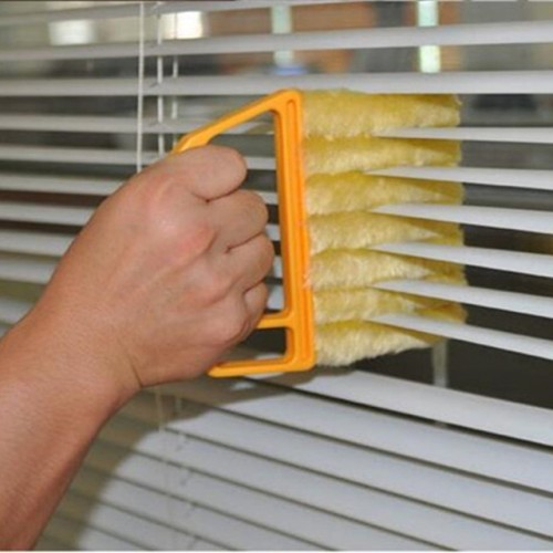 Useful Microfiber Window cleaning brush air Conditioner Duster cleaner with washable venetian blind blade cleaning cloth.