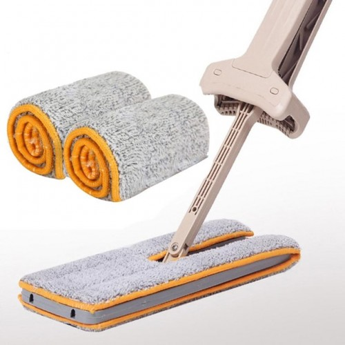 floor mop cloth Double Sided Non Hand Washing Mop Accessories Dust Push double sided mop cloth.