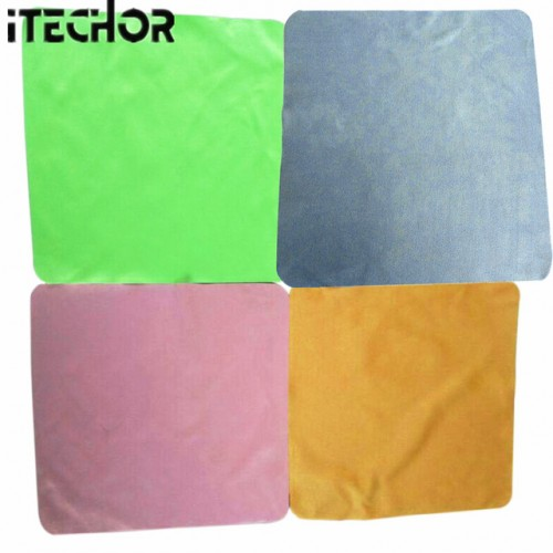 iTECHOR 4Pcs Large Microfiber Cleaning Cloth for Screens Lenses Glasses 20 20cm color random.