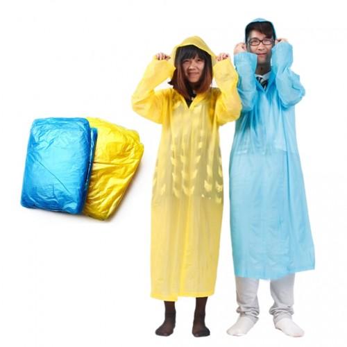 1 pcs Disposable Raincoat Adult Emergency Waterproof Hood Poncho Travel Camping Must Rain Coat Unisex Random