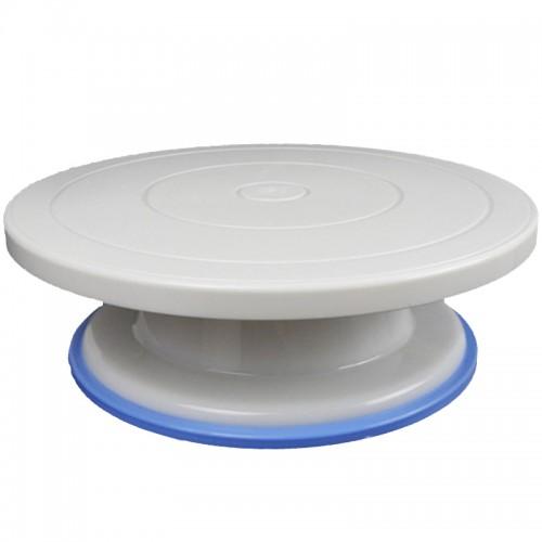 27cm Plastic Cake Turntable Rotating Cake Decorating Turntable Anti skid Round Cake Stand Cake Rotary Table