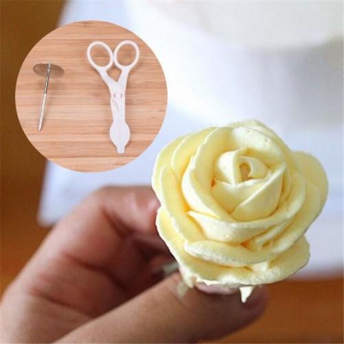 Rose Cream Cake Decorating Tools receptacle scissors Russia Tulip Tips nozzles flowers baking Fondant Full set