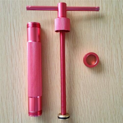 Rose Red Metal Alloy Sugar Paste Extruder Craft Gun with 20 Tips Sugar Craft Fondant Cake