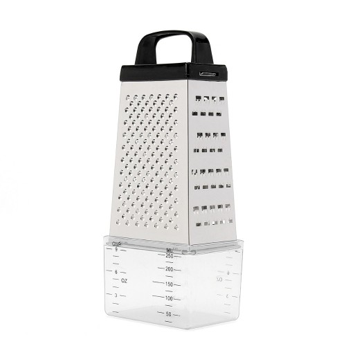 Black White Random 4 Sided Blades Cheese Vegetables Grater Carrot Cucumber Slicer Cutter Box Container Kitchenware
