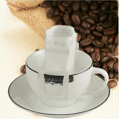 50Pcs Pack Drip Coffee Filter Bag Portable Hanging Ear Style Coffee Filters Paper Home Office Travel