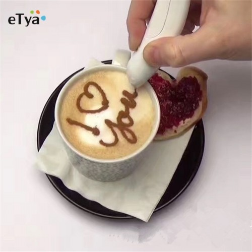 Electrical Latte Art Pen for Coffee Cake Spice Pen Cake Decoration Pen Coffee Carving