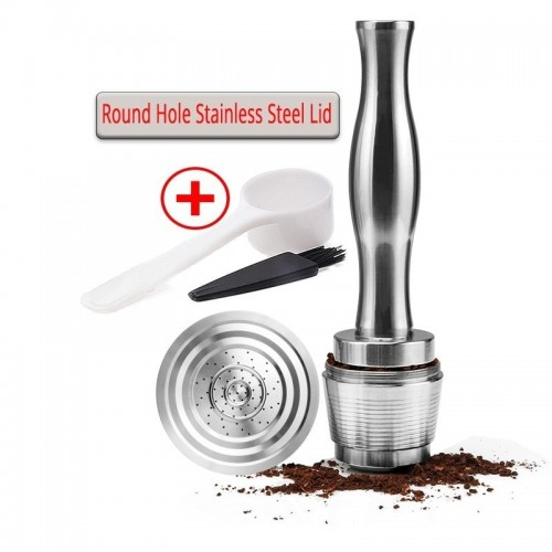 Nespresso Stainless Steel Refillable Nespresso Capsules Capsula Coffe Koffie Tamper Stand Coffeeware Reusable Coffee Filter Cup