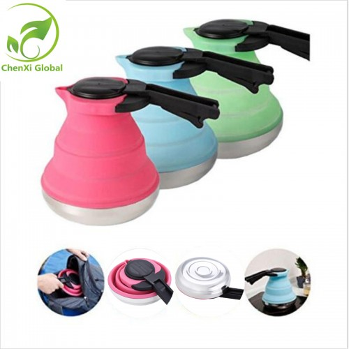 Kitchen Portable Folding Coffee Kettle Eco Friendly Silicone Folding Household Helper Outdoor Camping Tour Tea Coffee