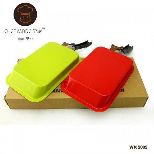 Rectangle Grill Pan 18 2 12 4cm green red