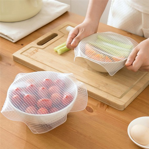 Stretchy Bowl Cover Silicone Suction Lid bowl Cooking Pot lid Silicone Stretch Lid Dishware Silicone Suction