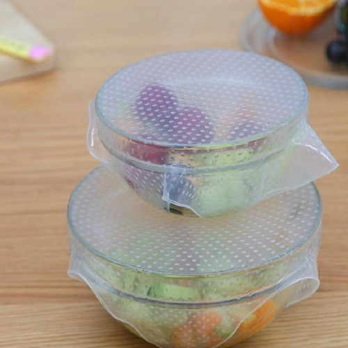 Washable Reusable Stretchy Silicone Lid Bowl Covers for Pot Pan Dishware Silicone Suction Covers Bowl Lid