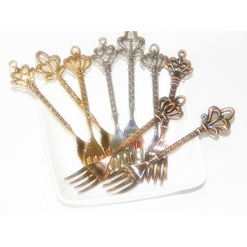 Kitchen dining bar 6pc lot Fashion classical vintage fruit small fruit sign dessert tableware cake fork.jpg 640x640