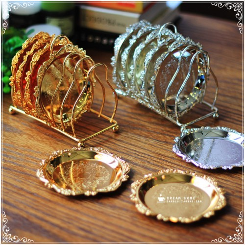 Luxury Gold Plated Snack Dish Silver Plated Mini Small Dessert Plate Cake Serving Tray With Display.jpg 640x640