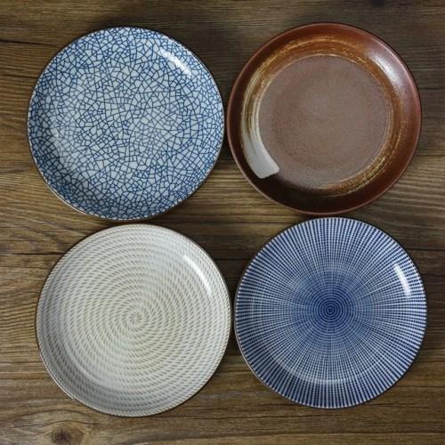On sale Stripe geometry plate flavoring sauce seasoning dishes saucer 4 patterns set .jpg 640x640