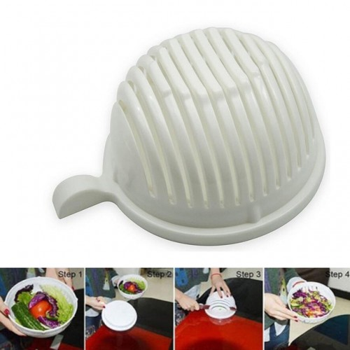 PVC Bowl Tools White Salad Bowl In 60 Second Maker Healthy Fresh Salads Made Easy Salad.jpg 640x640