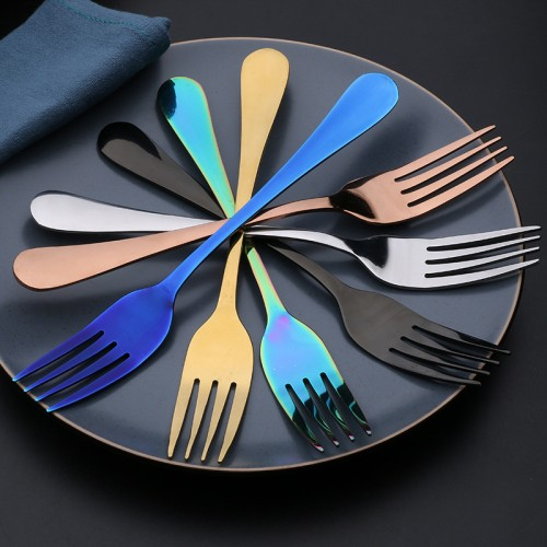 Polished Stainless steel colorful dinnerware set 4pcs set
