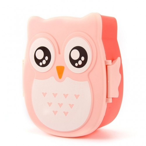 Portable Cartoon Owl Boxes Food Fruit Plastic Storage Container Bento Microwave Oven with Food grade PP.jpg 640x640