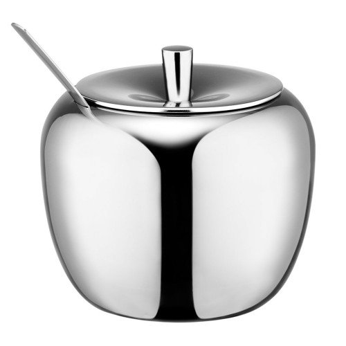 Realand 18 8 Stainless Steel Apple Sugar Bowl Seasoning Jar Condiment Pot Spice Container Canister Cruet