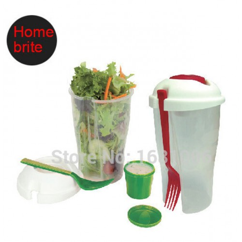 Salad To Go Cup with fork dressing bowl 26 OZ keeps salads fresh lightweight suit fruit.jpg 640x640