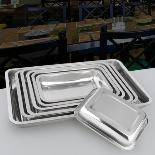 Stainless steel tray rectangular hotel tableware fish plate barbecue plate tray.jpg 640x640