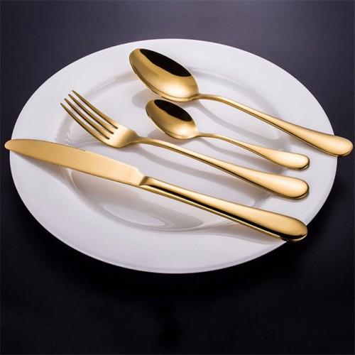 Stainless Steel Golden Western Food Dinnerware Cutlery Fork Knife Scoop Tableware Cutlery Set.jpg 640x640