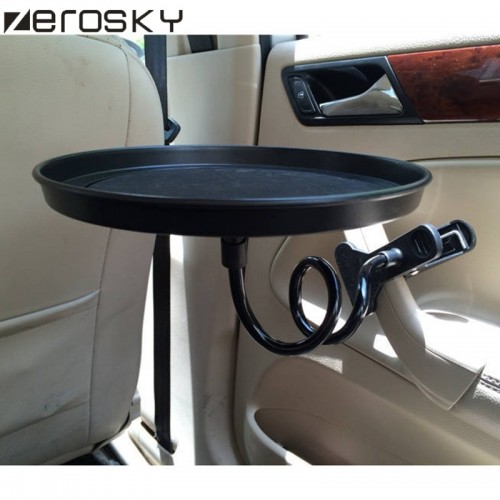 Zerosky Kitchen Tableware Tools Car Travel Auto Swivel Drink Food Cup Tray Mount Holder Stand Desk