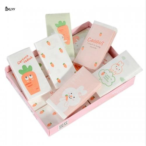 BXLYY 30pc Creative Cartoon Printing Facial Tissue Paper Fashion Napkin Small Paper Towel Original Pulp Three