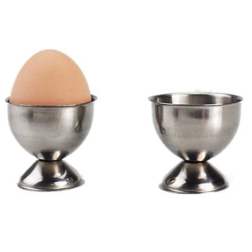 Handy Stainless Steel Soft stand for boiled eggs Cups Egg Holder Tabletop Kitchen Tool steam rack