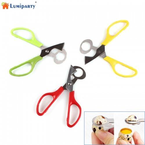 LumiParty Quail Egg Shell Scissors Cutters Stainless Steel Blade Scissor Kitchen Tools Color Random