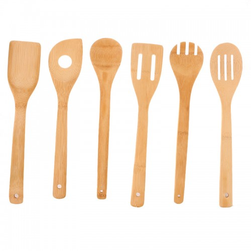 Eco friendly Bamboo Wood Spatula Spoon Kitchen Cooking Tool Sets Free Shipping