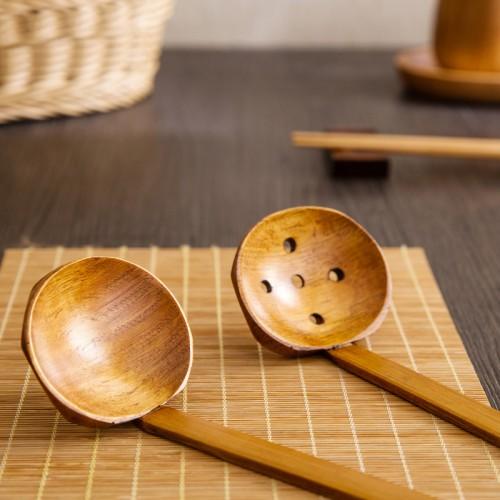 Long handled wooden spoon kitchen colander small nonstick pot household spoon Sheng porridge porridge wooden spoon