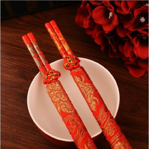 Wood Chinese chopsticks printing both the Double Happiness and Dragon Wedding chopsticks favor wedding gift.jpg 640x640