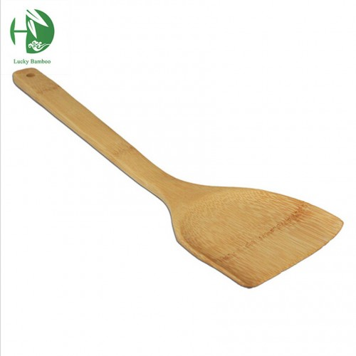 hand carved polished natural bamboo shovel and wooden spoon The original color cooking tools kitchen aid