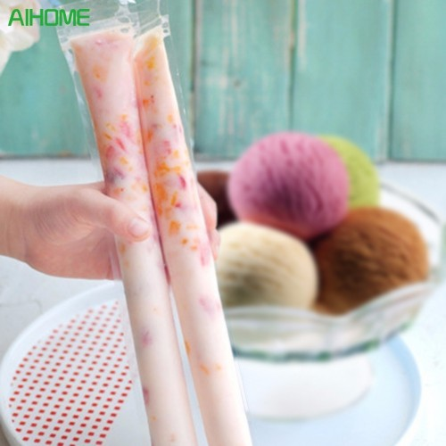 20pcs set Disposable Plastic Ice Cream Pop Molds Popsicles Mould Kitchen DIY Tools Frozen Yogurt Kids