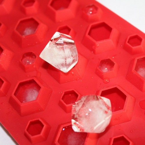 3d Diamonds Gem Cool Ice Cube Chocolate Soap Tray Mold Silicone Fodant Moulds