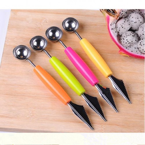 Double Head Dig Ball Scoop Spoon Baller Ice Cream DIY Assorted Cold Dishes Tool Watermelon Melon