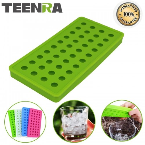 TEENRA 1Pcs 40 Cavity Silicone Ice Cube Mini Ice Ball Maker Silicone Ice Cube Trays Mould